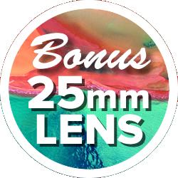 Bonus 25mm f/1.8 lens