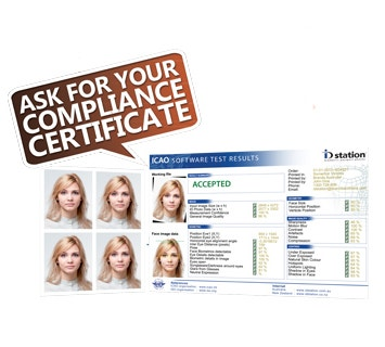 Ask for your Compliance Certificate with your Passport Photos